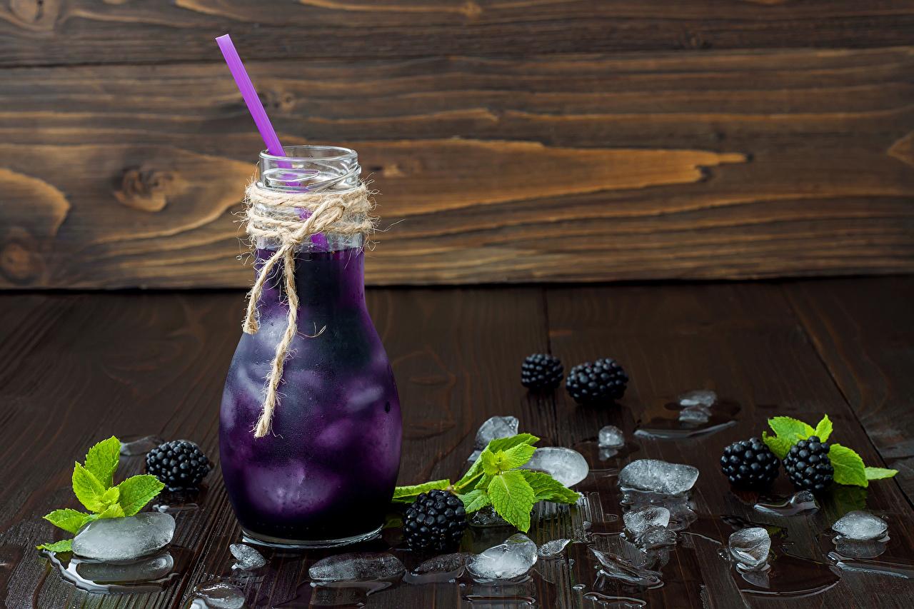 Foto Eis Brombeeren Flasche Lebensmittel Getränke