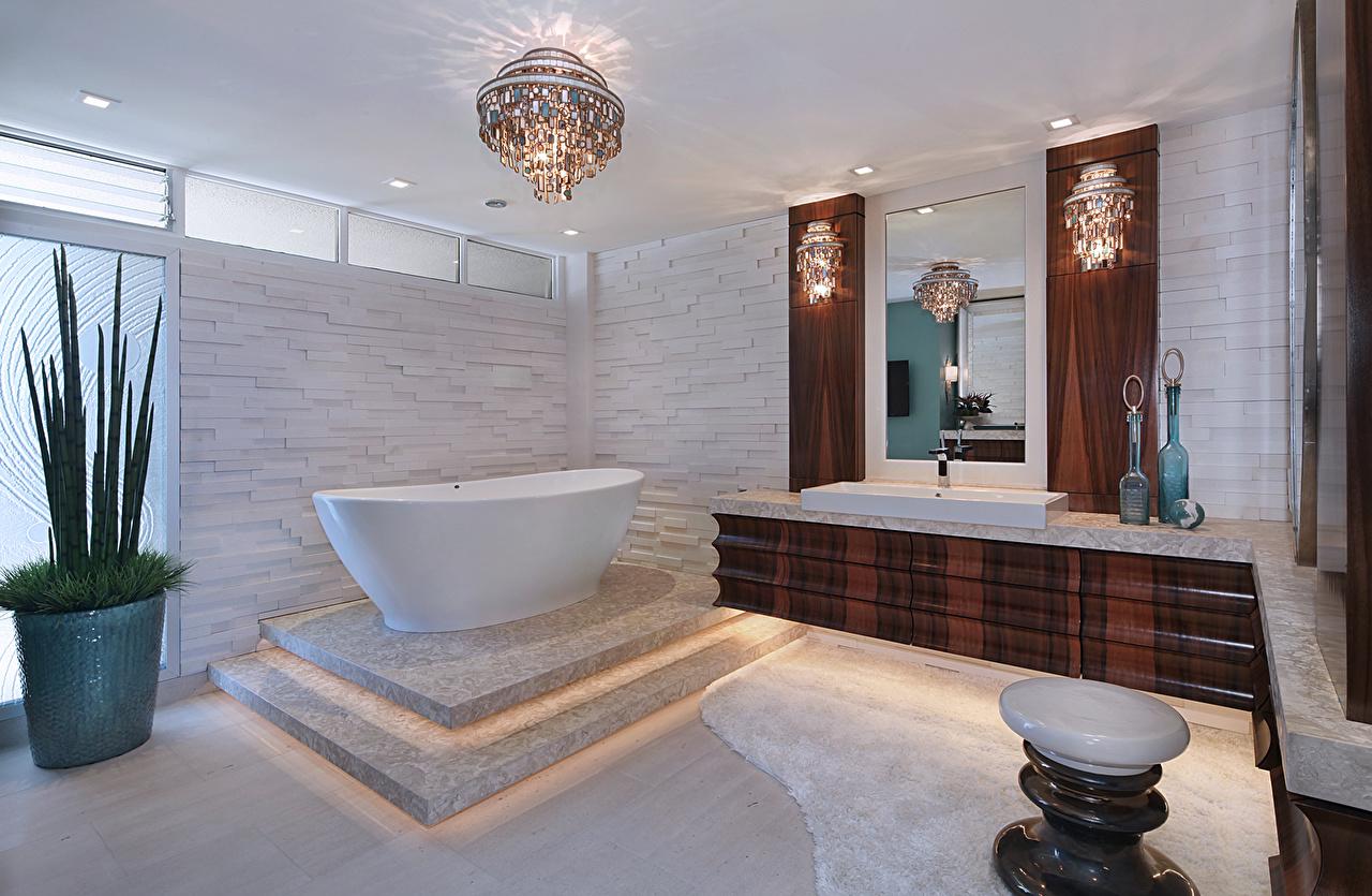 Fotos Badezimmer Innenarchitektur Kronleuchter Design