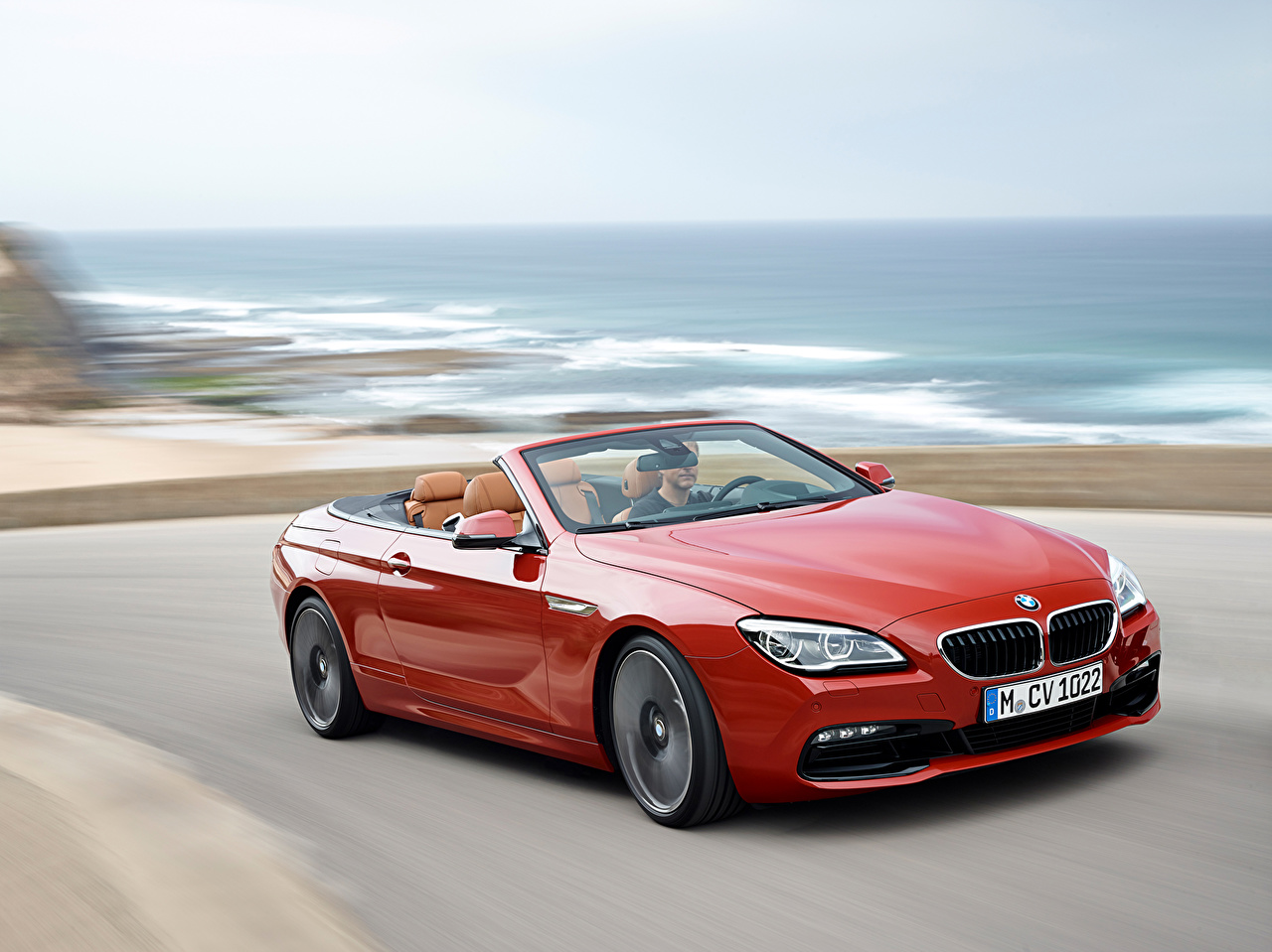 Photo BMW 2015 M6 Cabriolet Red Cars Convertible auto automobile