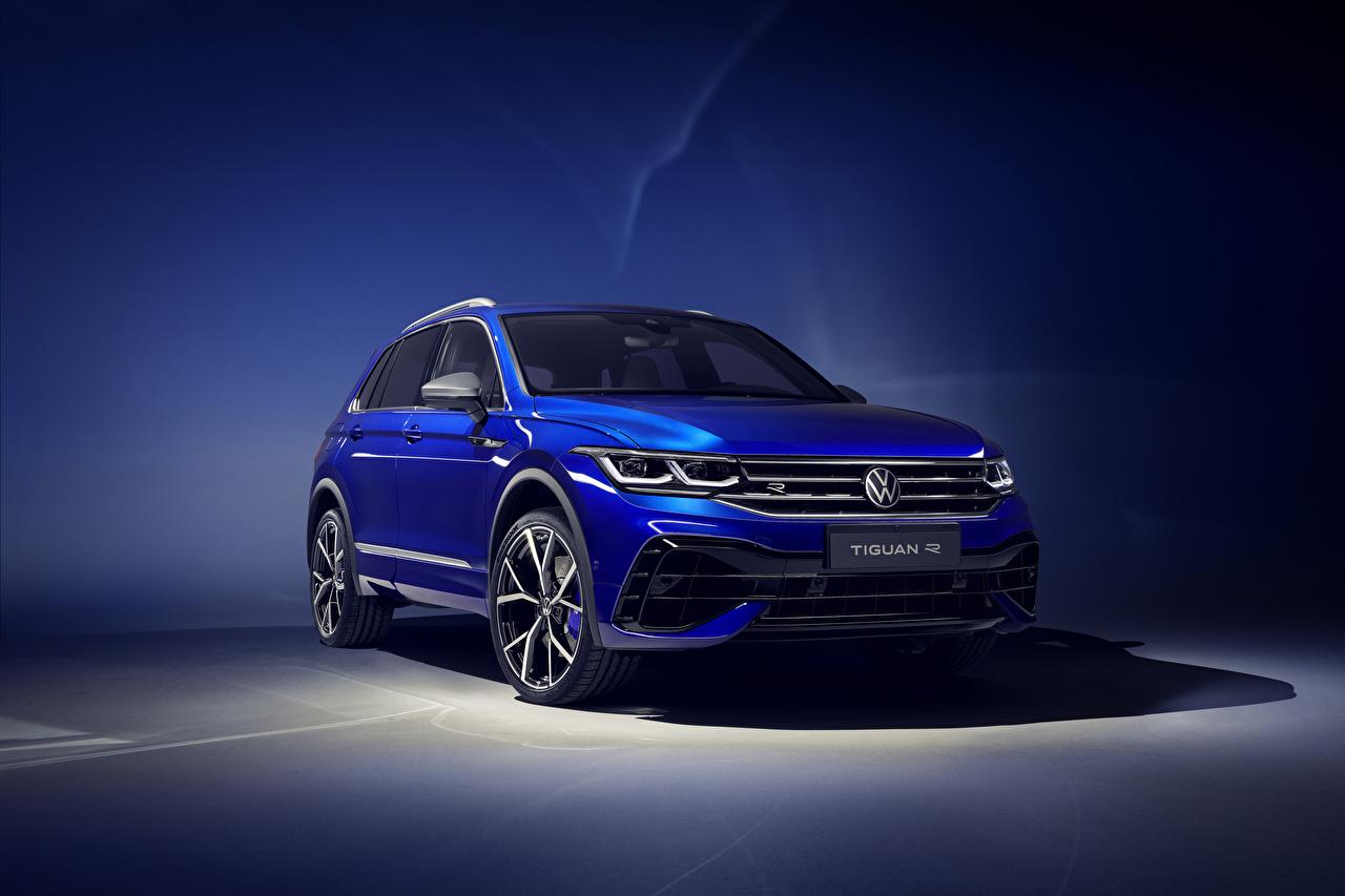 Photos Volkswagen 2020 Tiguan R Worldwide Light Blue automobile Cars auto