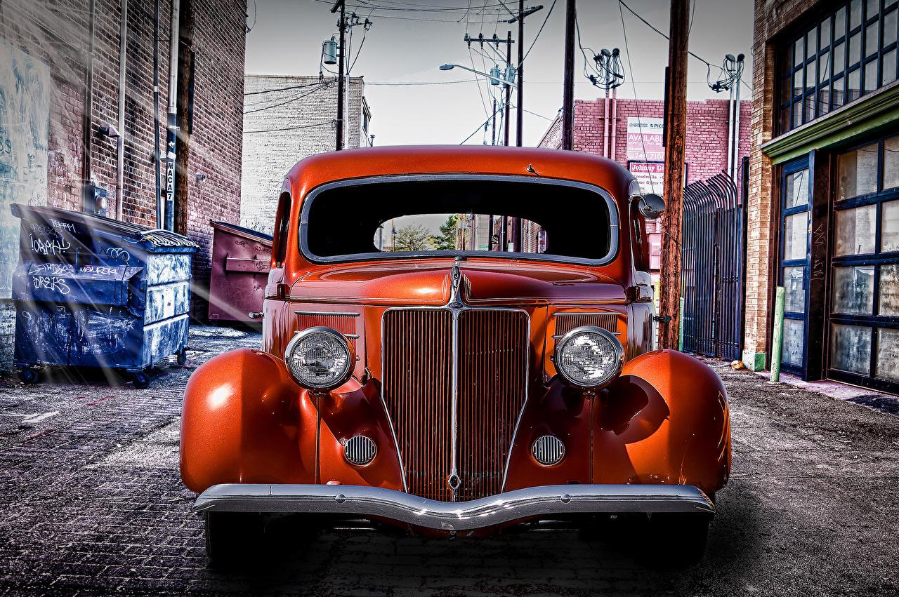 Wallpaper Ford HDRI Retro Front Headlights automobile HDR vintage antique Cars auto