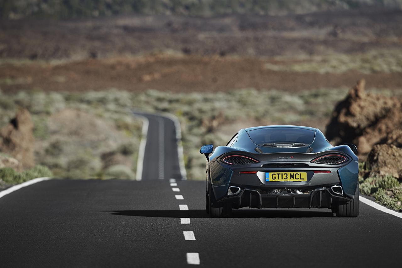 Picture McLaren 570GT Roads Cars Back view auto automobile