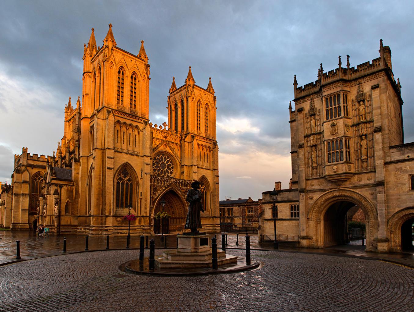 Bilder von Kirche USA Denkmal Platz Bristol Cathedral Tempel Städte Kirchengebäude Vereinigte Staaten