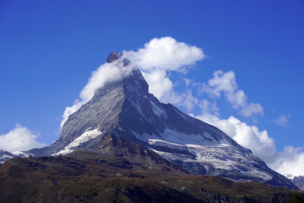 Photo Switzerland Matterhorn, Pennine Alps Nature mountain Clouds Mountains