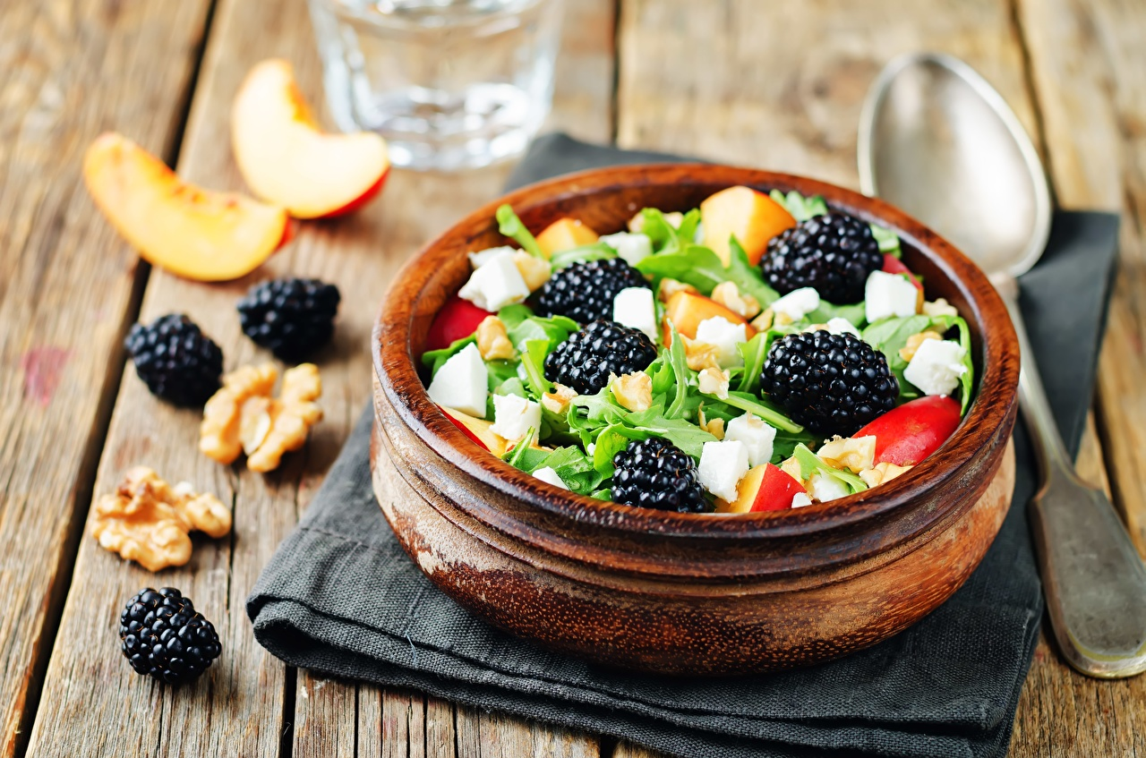 Picture Bowl Blackberry Food Salads