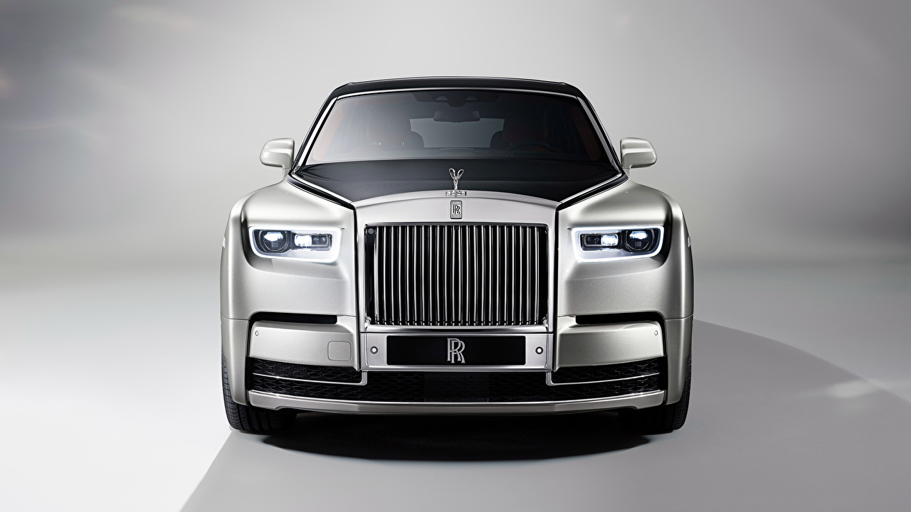 Wallpaper Rolls-Royce Phantom Silver color auto Front Metallic Cars automobile