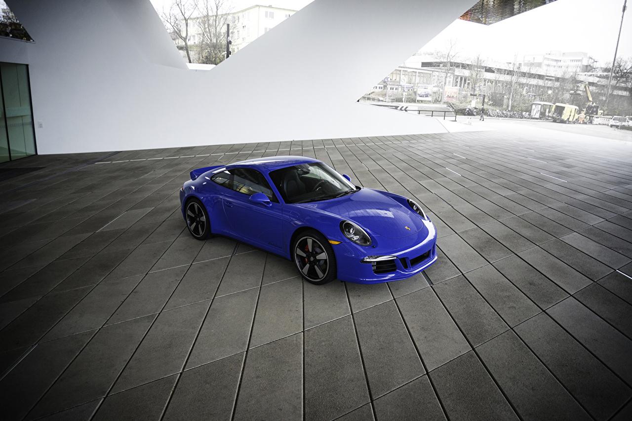Sfondi Tuning Porsche 2015 911 GTS Club Coupe Celeste colore metallico autovettura Auto macchina macchine automobile Metallizzato