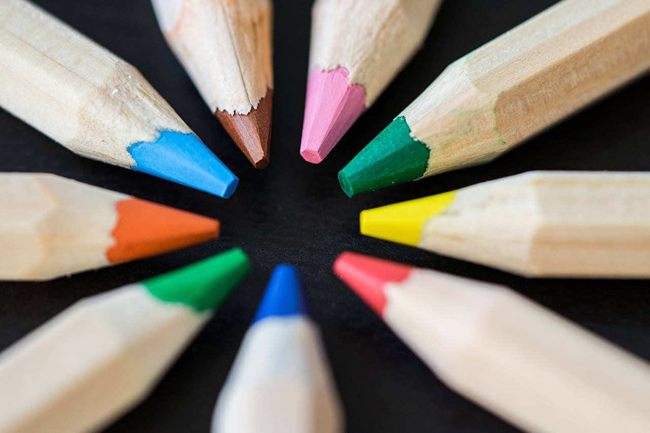 Images Pencils Multicolor Many Closeup pencil