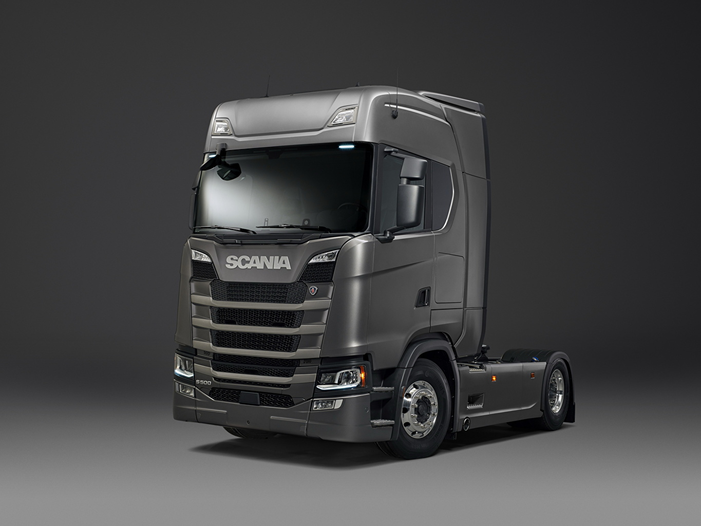 Picture Trucks Scania S 500 gray automobile lorry Grey Cars auto