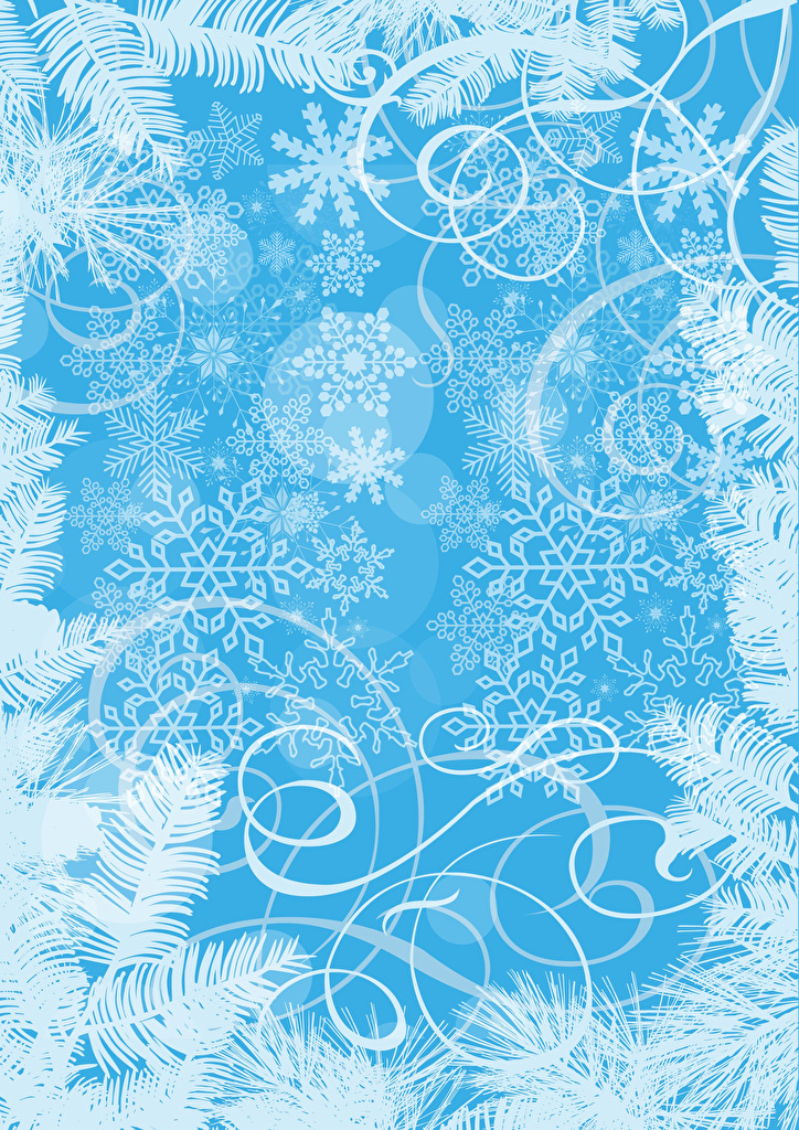 Wallpaper ornament Christmas Snowflakes Template greeting card  for Mobile phone Tracery New year