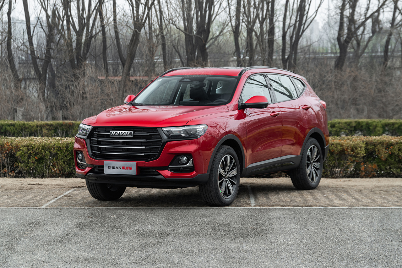 Bilder von Haval Chinesisch Crossover H6, 2021 Rot auto Metallisch chinesische chinesischer chinesisches Softroader Autos automobil