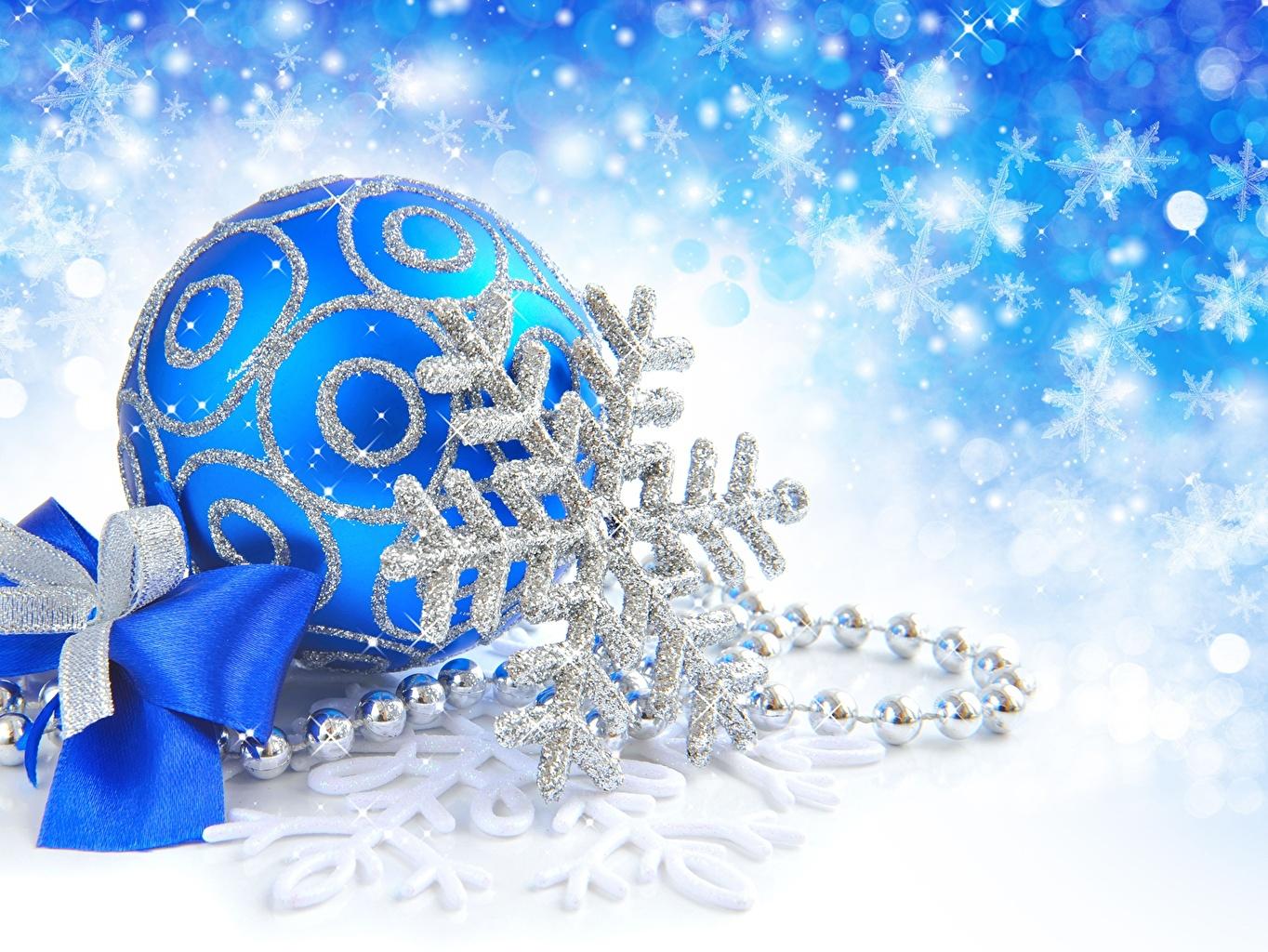 Images Christmas Snowflakes Balls Bowknot Holidays New year bow knot