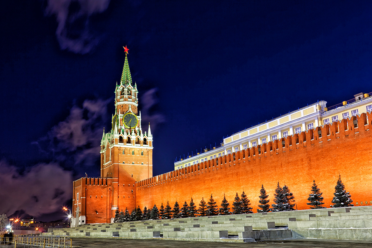 Обои russia, ночь, kremlin, россия, кремль, moscow. Города foto 16