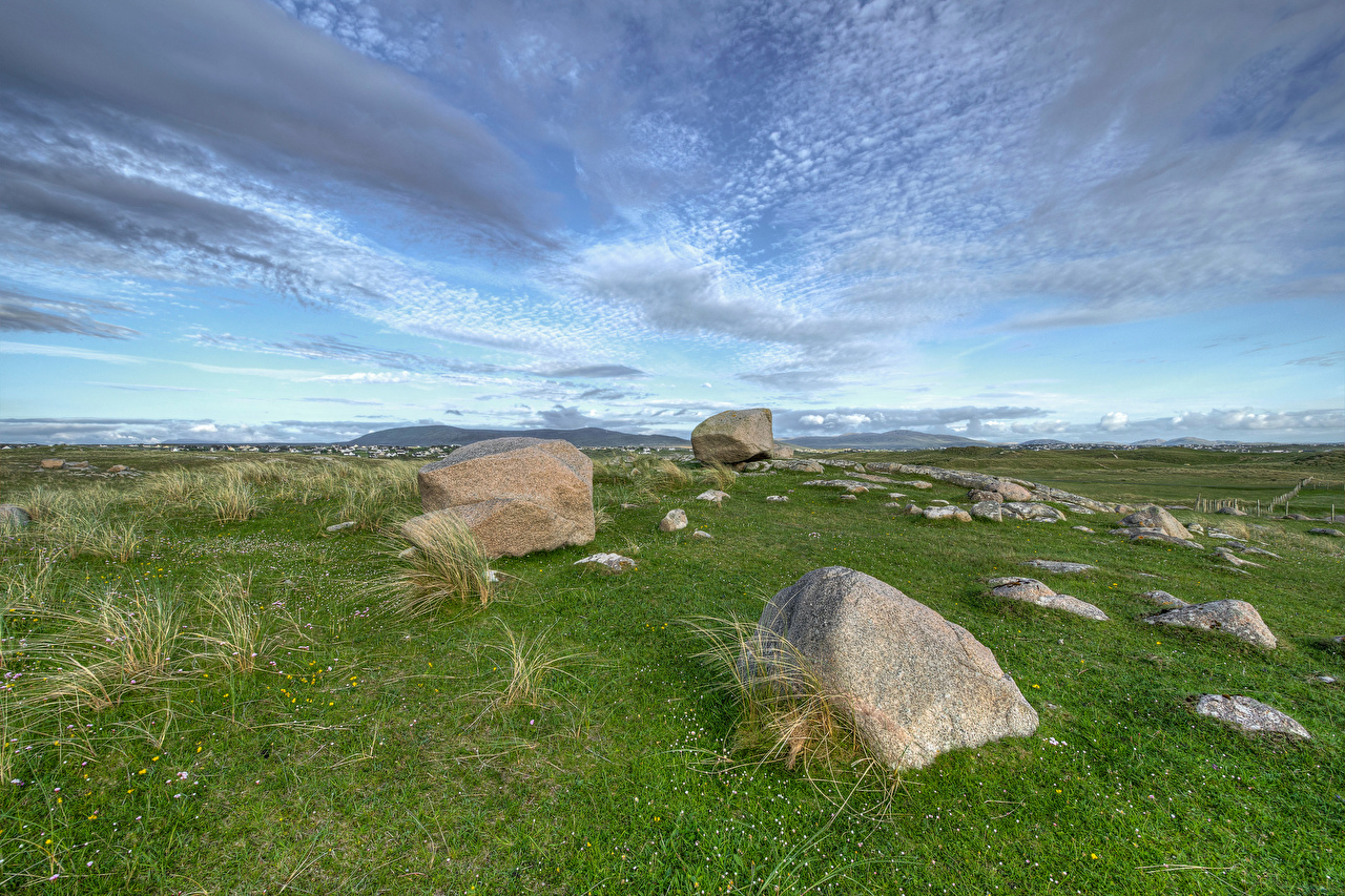 Pictures Ireland Gweedore, Donegal Nature Grass Stones stone
