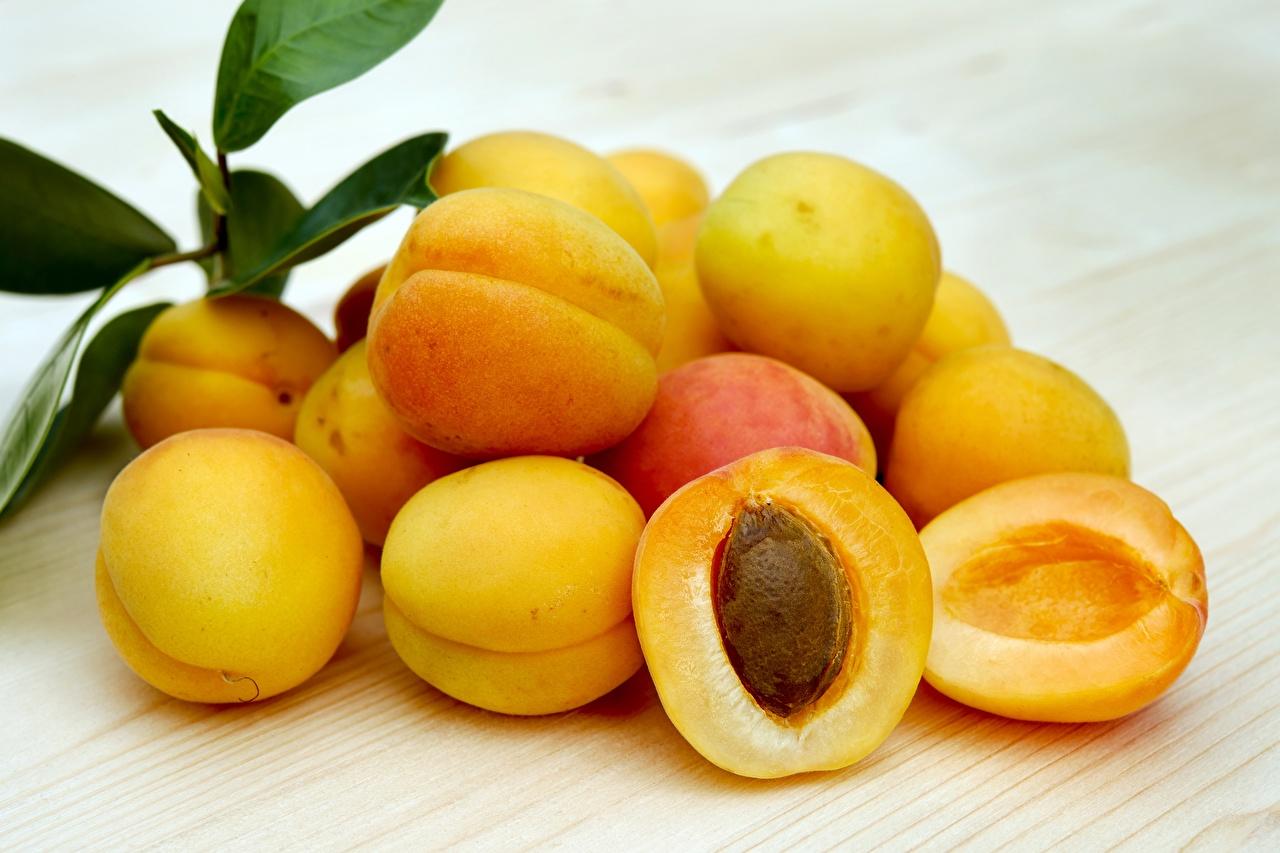 Photos Apricot Food Many Closeup
