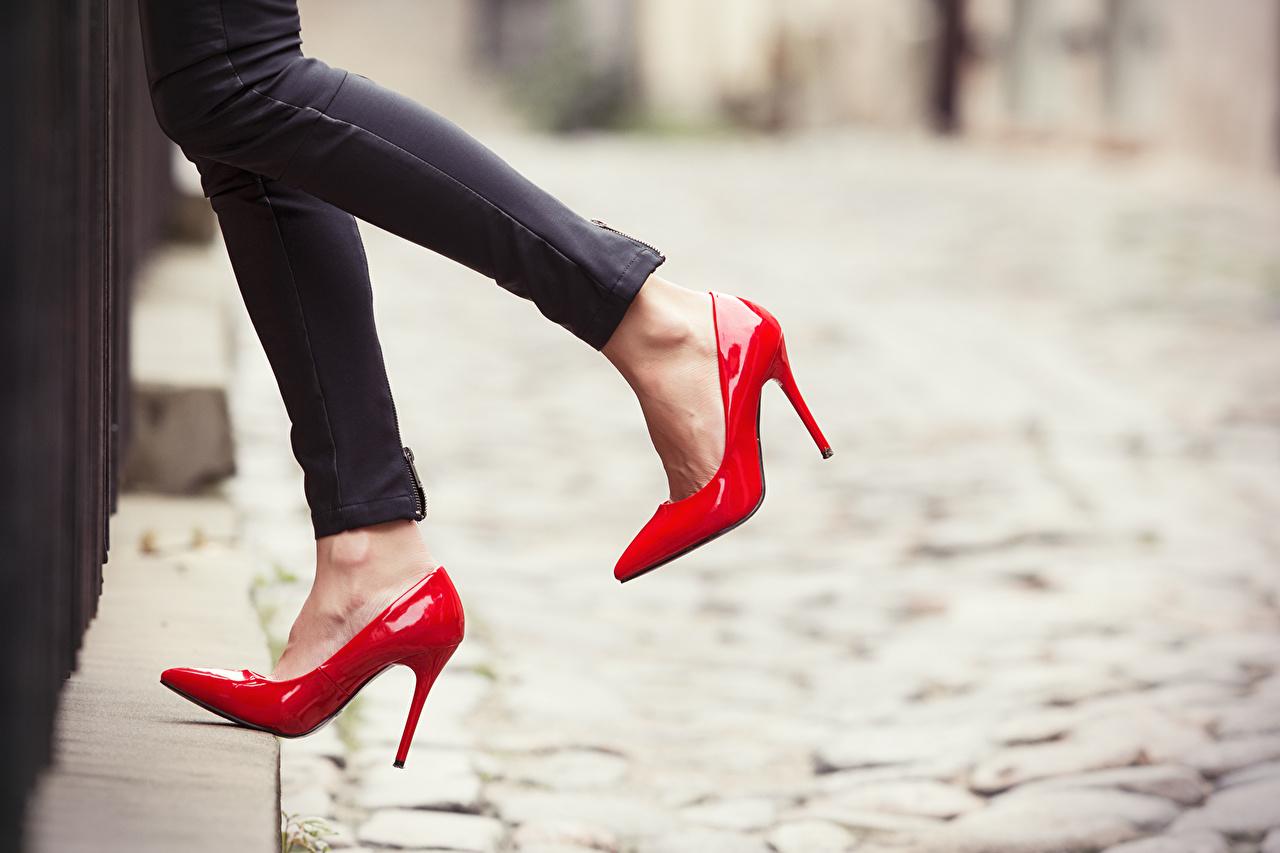Photo Legs Closeup high heels Stilettos