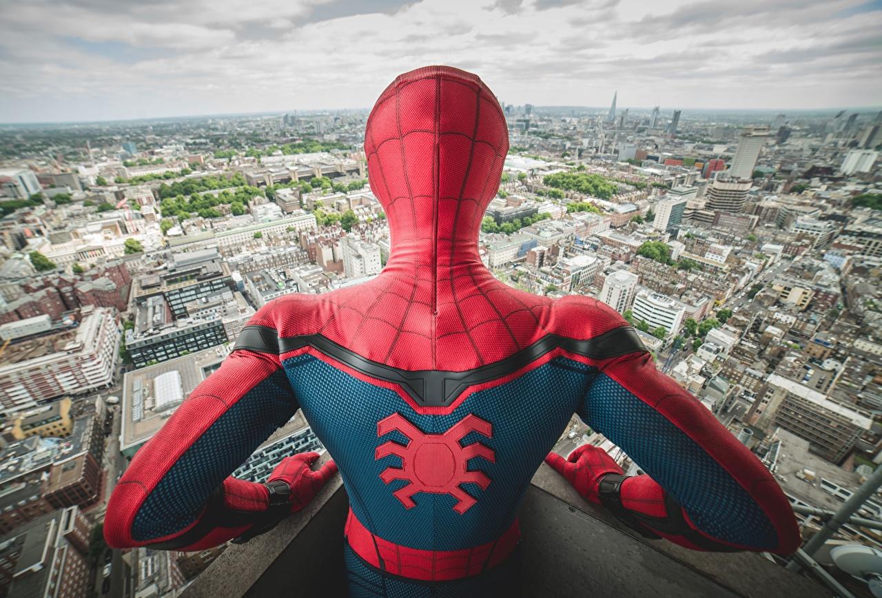 Desktop Wallpapers Spider-Man: Homecoming Spiderman hero Human back Movies Back view film