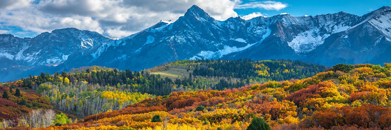 Fotos von Vereinigte Staaten Panorama Colorado Berg Natur Herbst Landschaftsfotografie USA Panoramafotografie Gebirge
