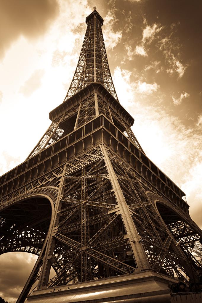 Fonds D Ecran France Paris Tour Eiffel Vue De Dessous Villes