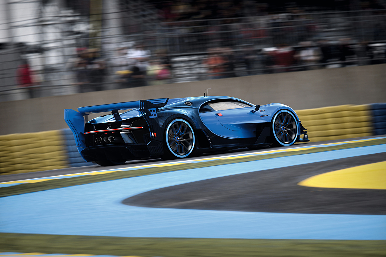 Desktop Wallpapers BUGATTI Vision Gran Turismo driving auto moving riding Motion at speed Cars automobile