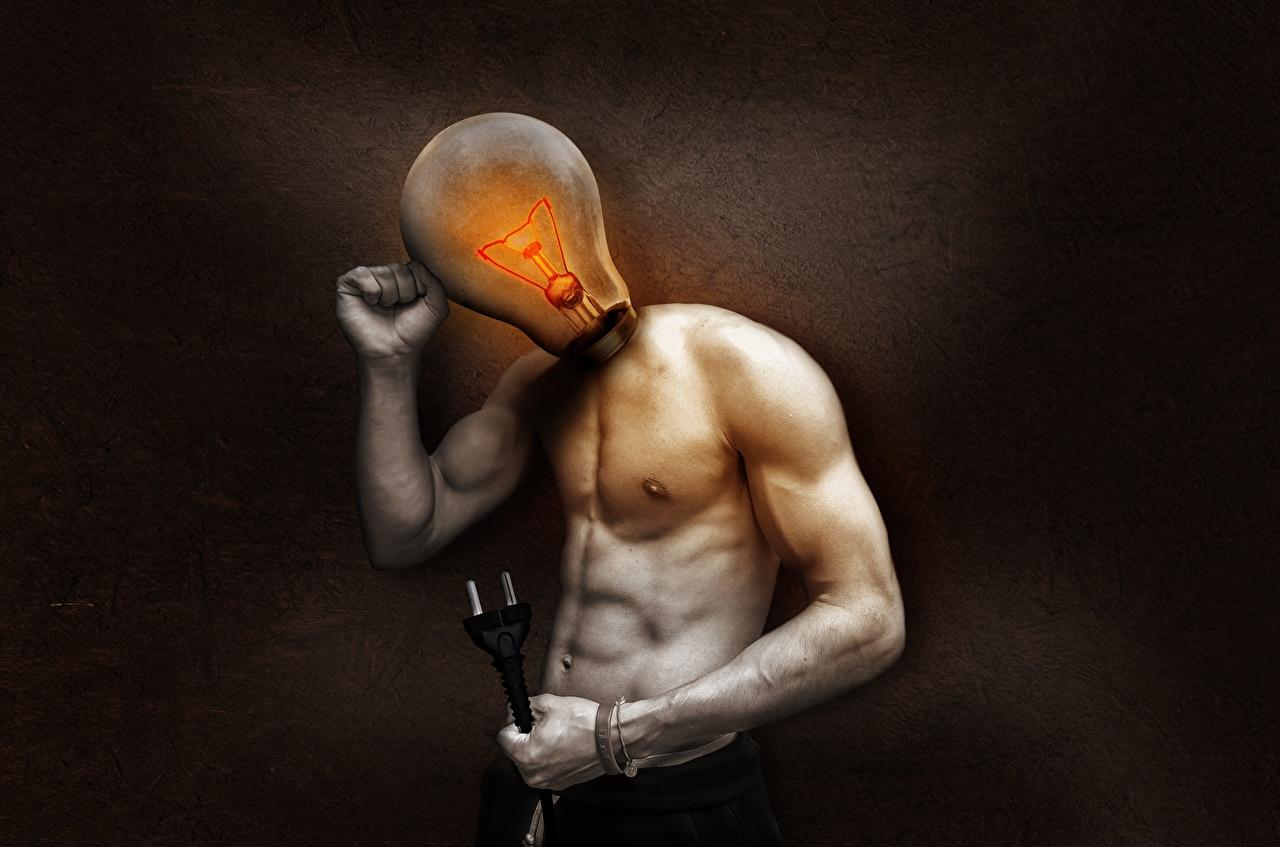 Photos Light bulb Creative Hands