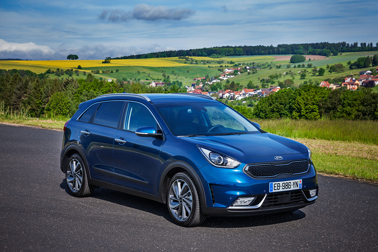 Photo KIA 2016 Niro Worldwide Blue Cars auto automobile