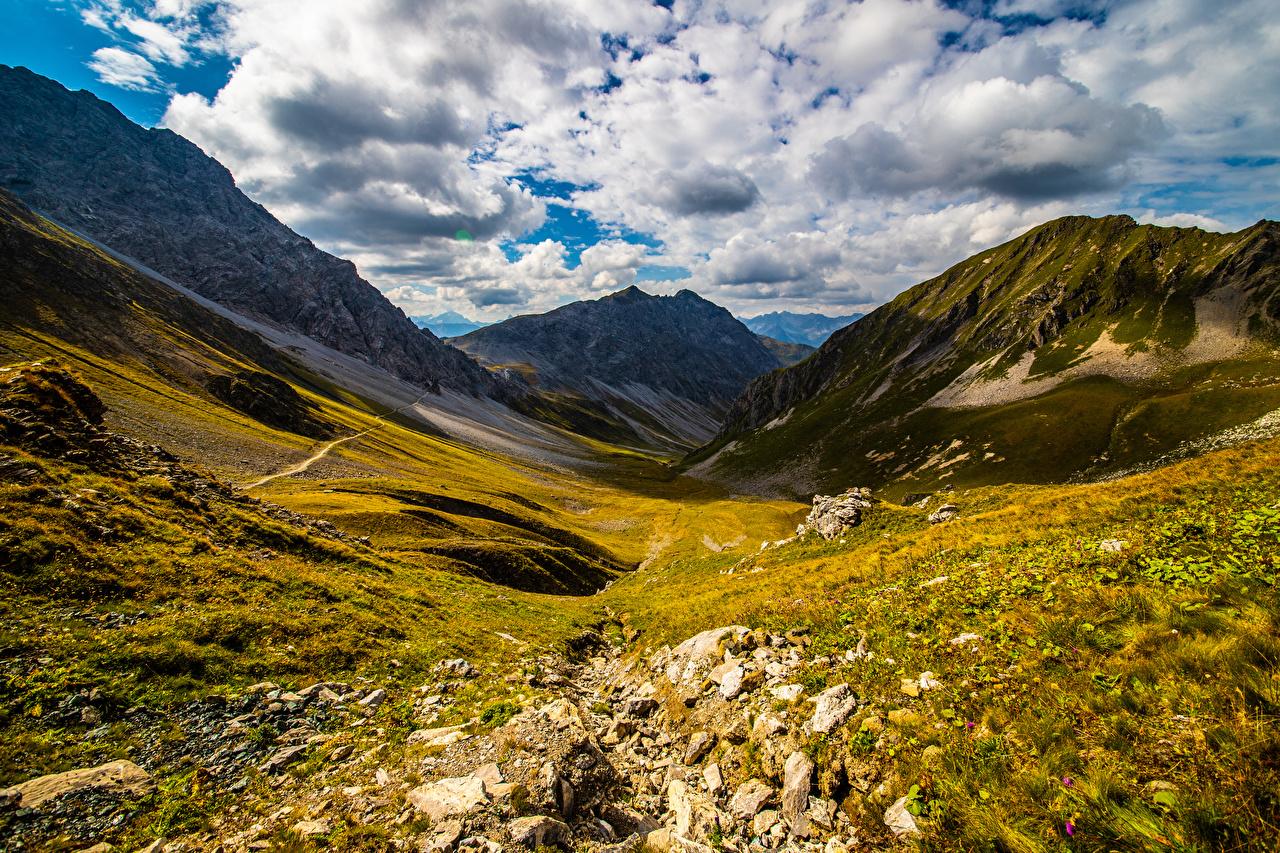 Desktop Wallpapers Alps Switzerland Nature mountain Clouds Mountains