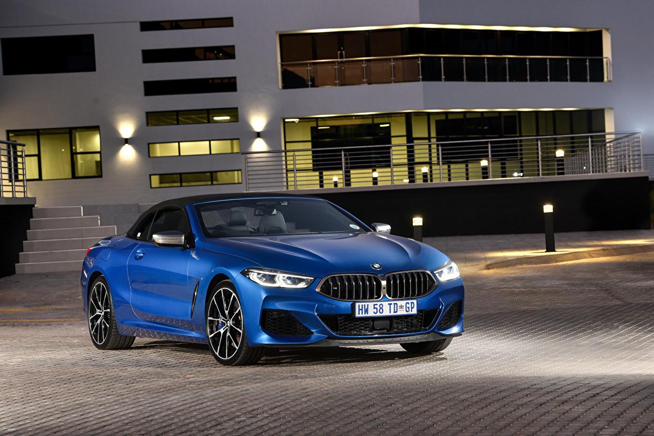 Images BMW 2019 M850i xDrive Cabriolet Blue automobile Convertible Cars auto