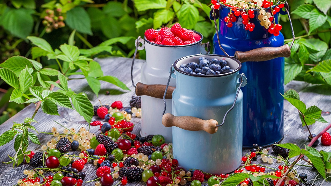 Images Bucket Currant Raspberry Blackberry Blueberries Food Berry