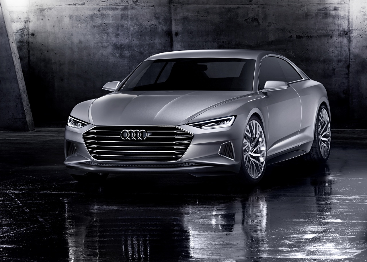 Bilder Audi 2014, Prologue, Concept Coupe graues auto Metallisch Grau graue Autos automobil