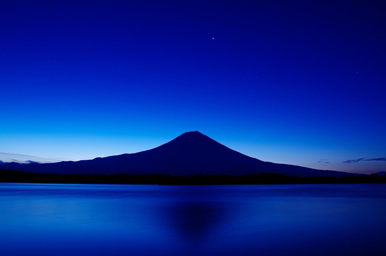 壁紙 日本 湖 富士山 火山 夜 自然 ダウンロード 写真