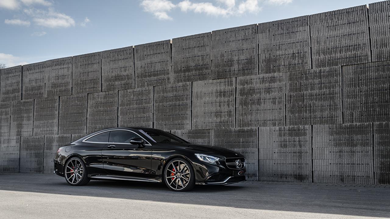 Images Mercedes-Benz CL63 AMG Vossen Black Side automobile Cars auto