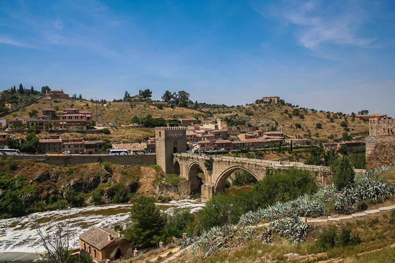 Photo Spain Bridge Of St Martin Tagus River Toledo Rivers