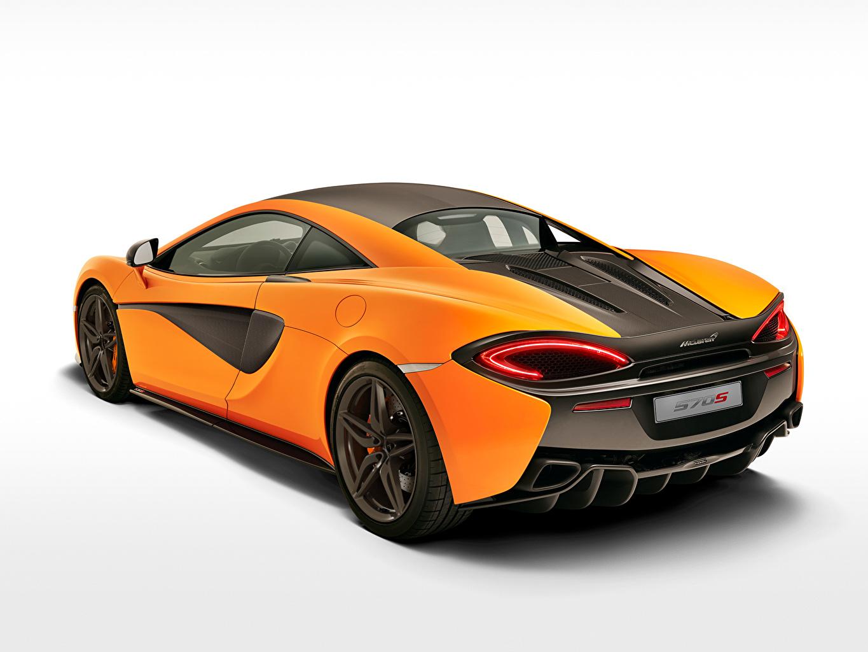 Photos McLaren 2015 570S Coupe Orange Cars Back view auto automobile