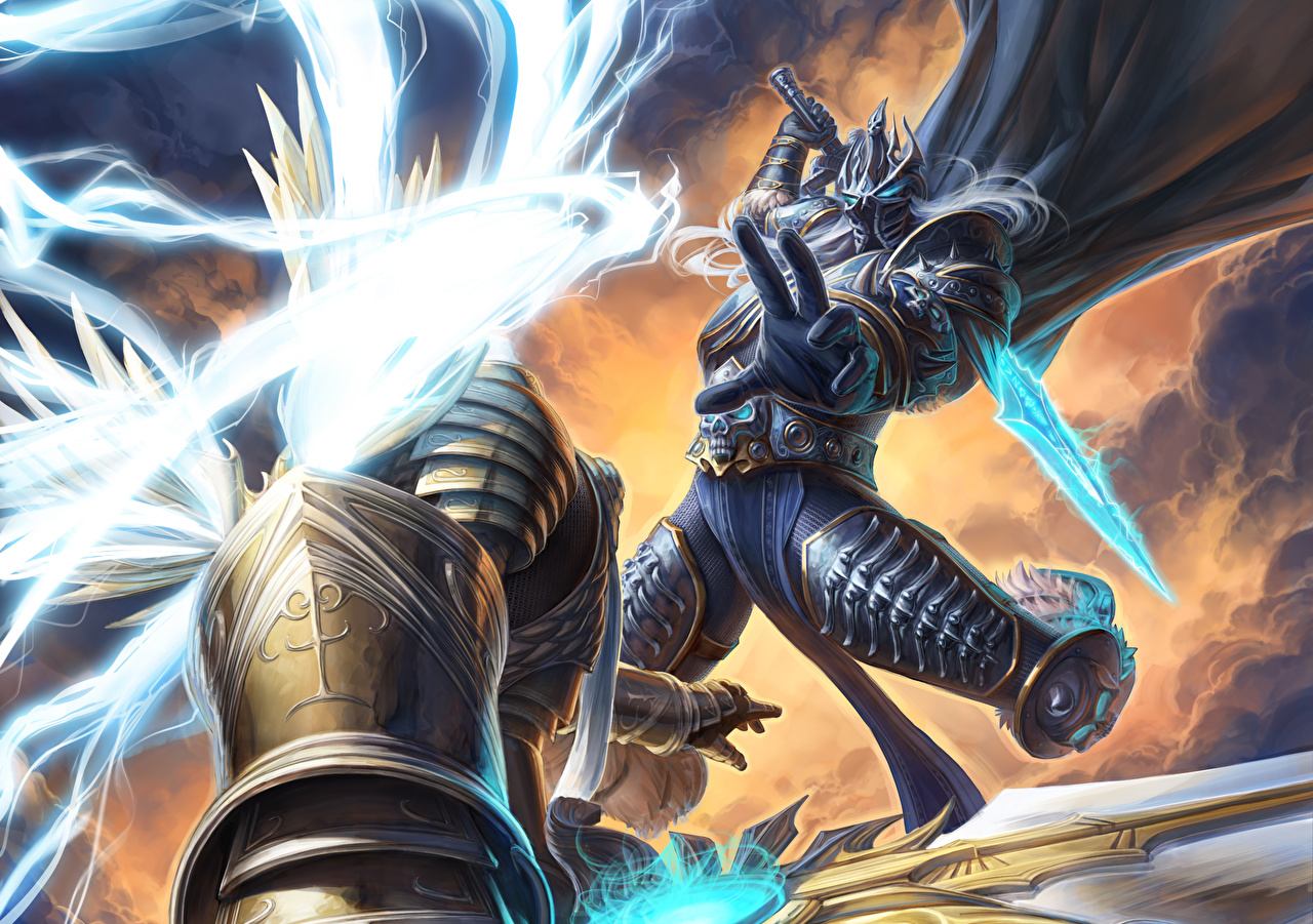 Wallpaper Wow Diablo Heroes Of The Storm Armour Arthas Tyrael