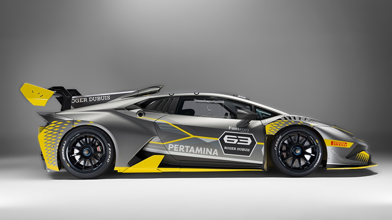 Photo Tuning Lamborghini Huracan Super Trofeo Evo gray Side Cars Grey auto automobile