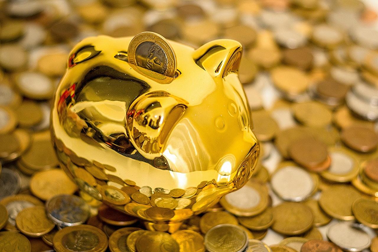 Photos Coins Gold color Money