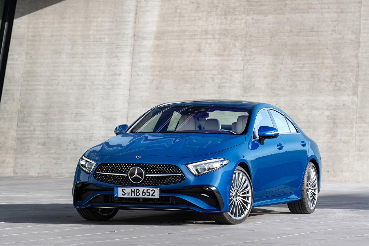 Photo Mercedes-Benz CLS 350 AMG Line, Worldwide, (C257), 2021 Blue auto Metallic Cars automobile