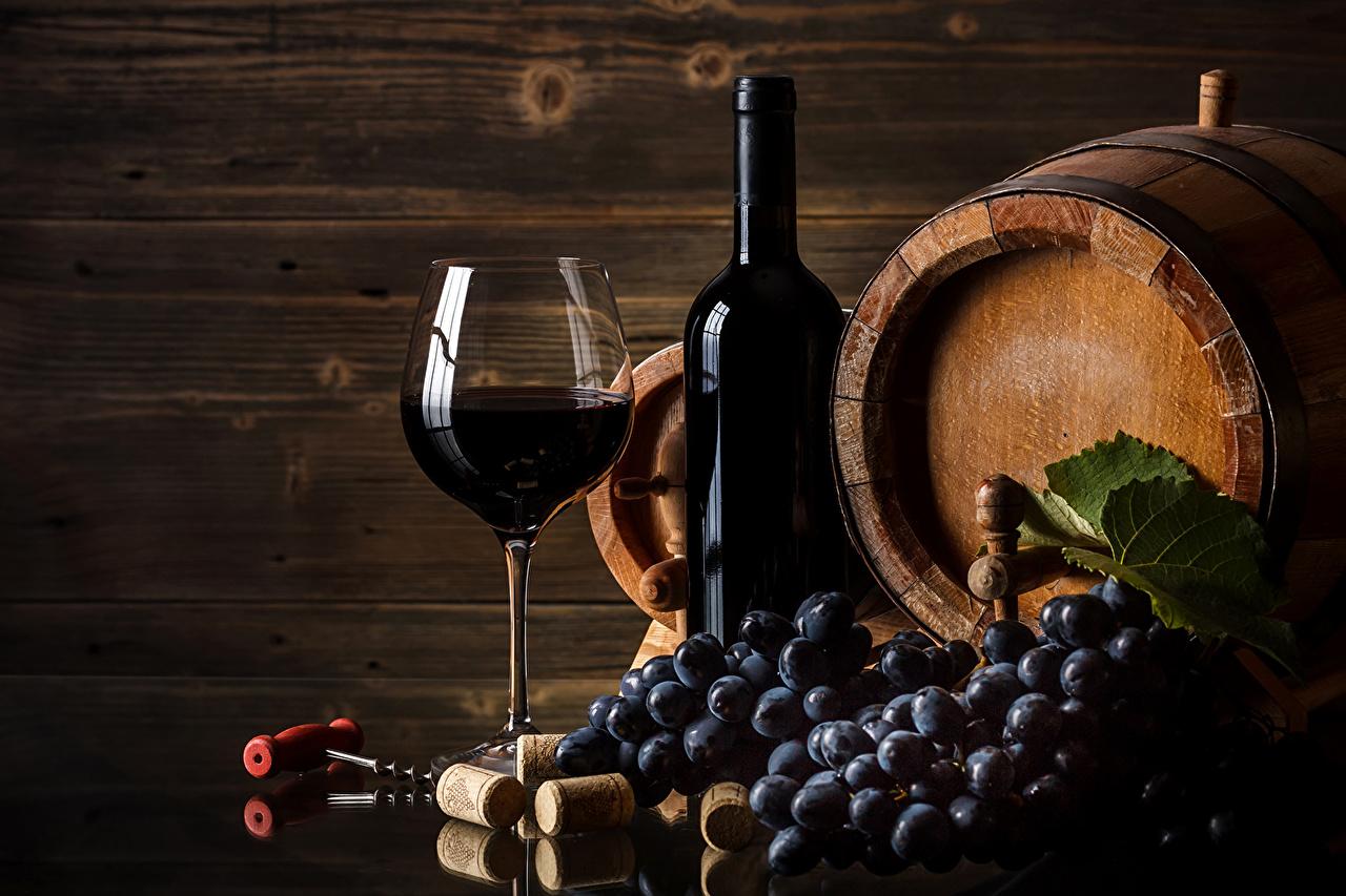 Foto Wein Fass Weintraube Flasche Weinglas Lebensmittel