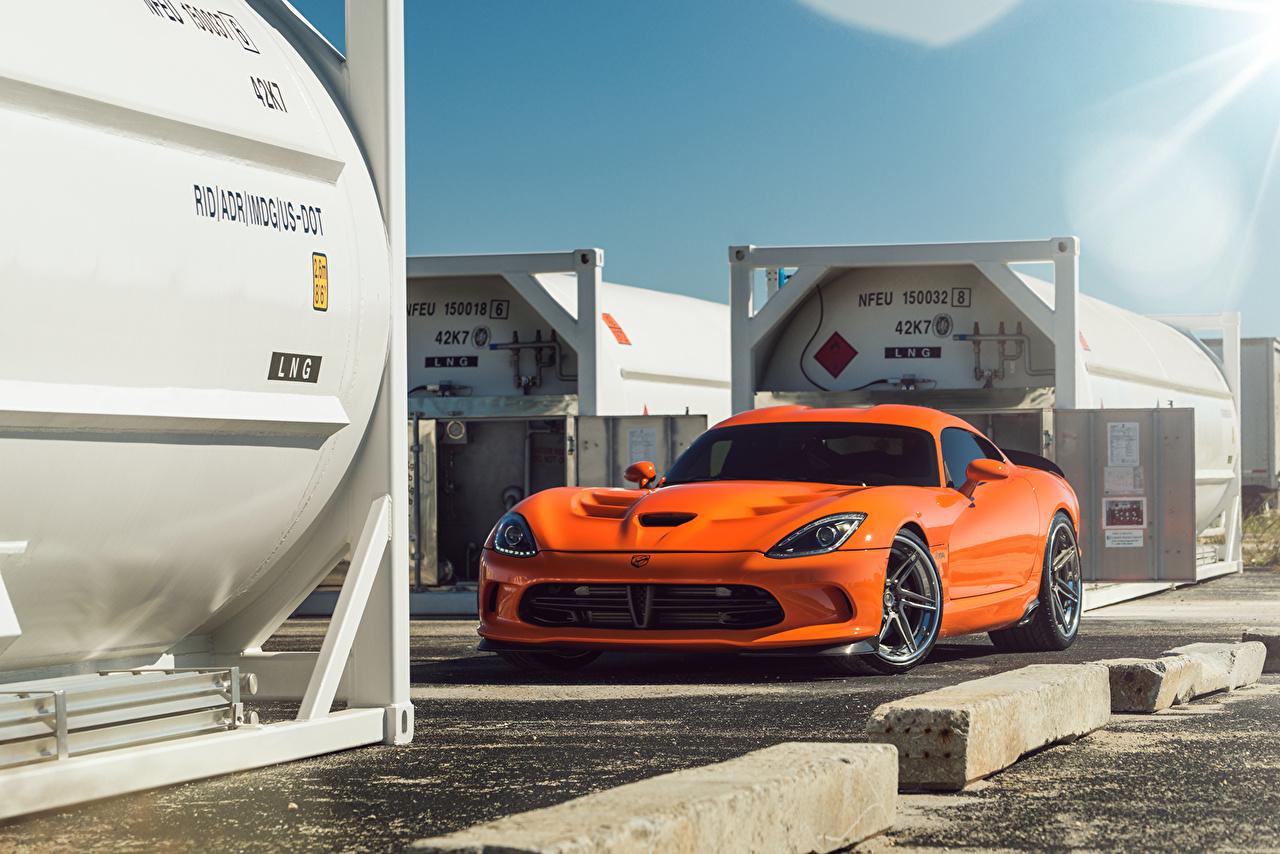 Wallpaper Dodge Viper ADV.1 Orange Cars auto automobile