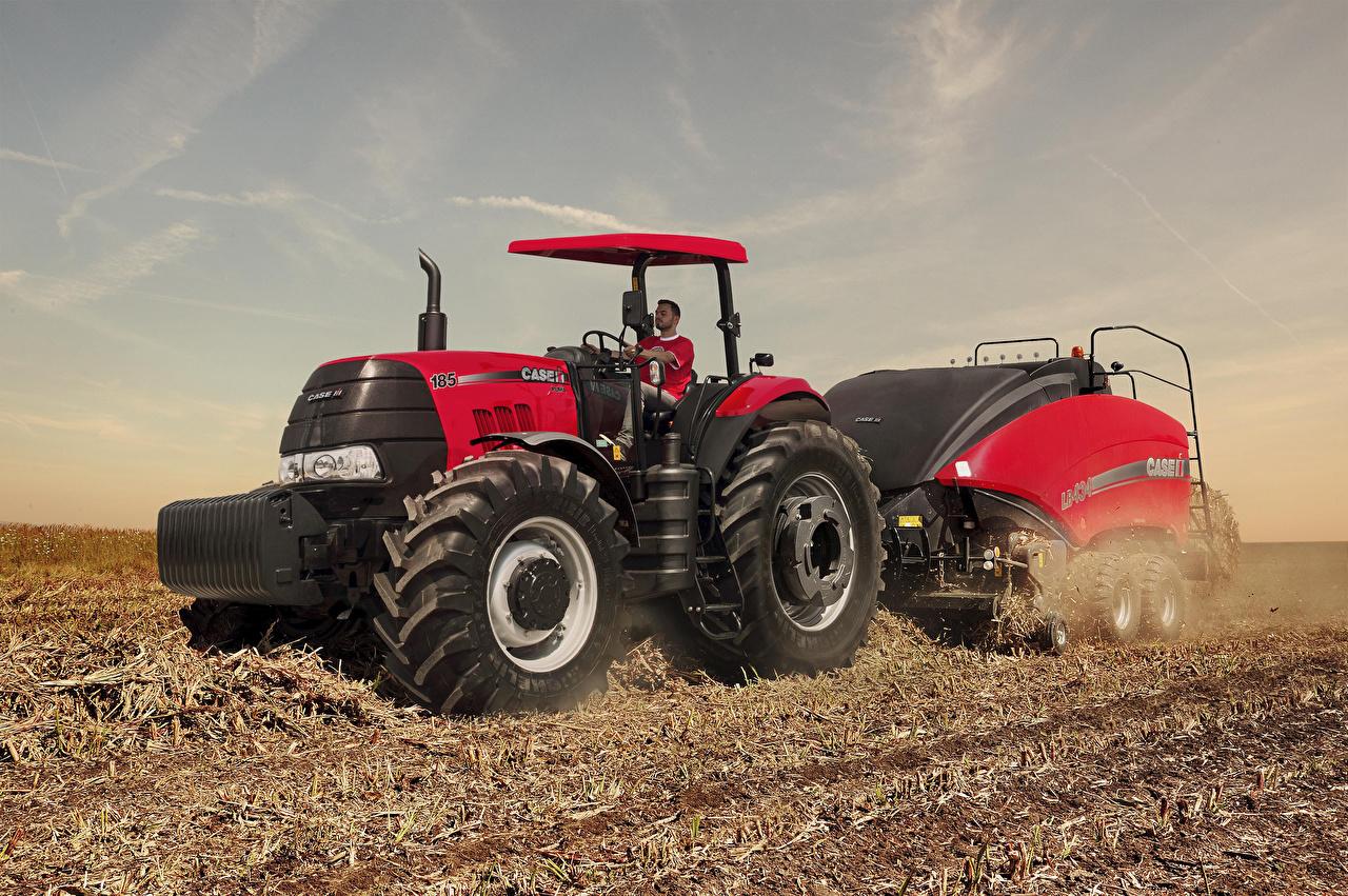 Bilder von Landwirtschaftlichen Maschinen Traktor 2017-21 Case IH Puma 185 ROPS Felder traktoren Acker