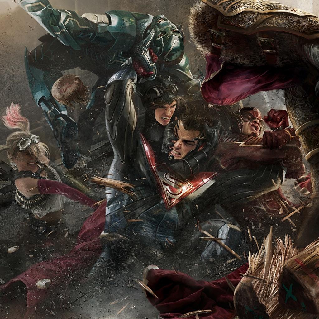 Bilder von Injustice 2 Superhelden Flash Held Superman Held Fantasy Schlägerei computerspiel Comic-Helden Spiele