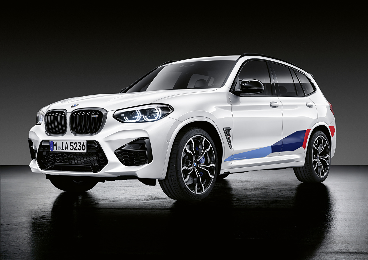 Photos BMW CUV 2019 X3 M M Performance Parts Worldwide White automobile Crossover Cars auto