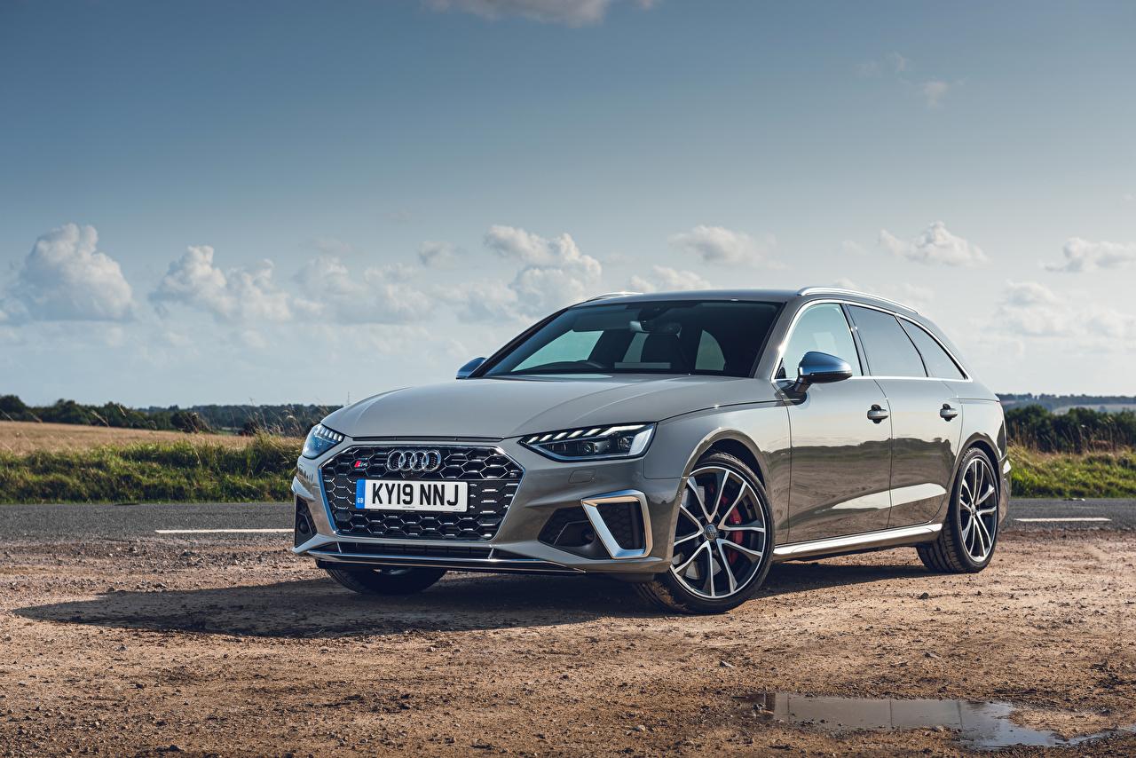 Wallpaper Audi Station wagon 2019 S4 Avant TDI Grey auto Metallic Estate car gray Cars automobile