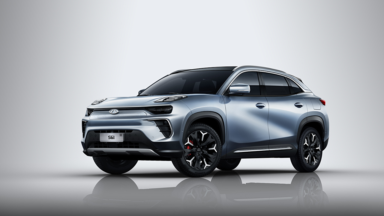 Desktop Wallpapers Chery Chinese Crossover eQ5 S61, 2020 gray Cars Metallic CUV Grey auto automobile