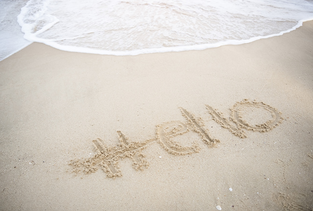 Photos English Hello Nature Sand lettering text Word - Lettering