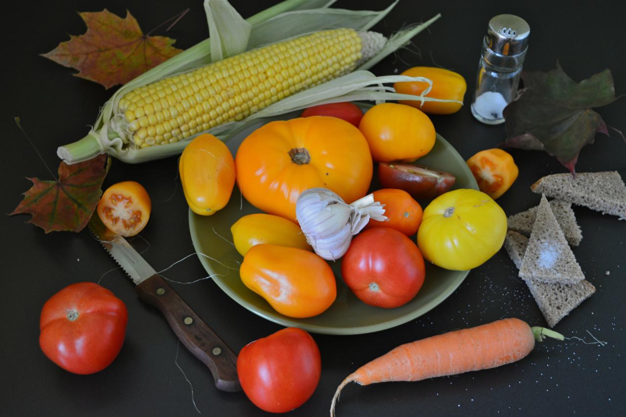 Image Corn Carrots Tomatoes Garlic Food Vegetables Allium sativum