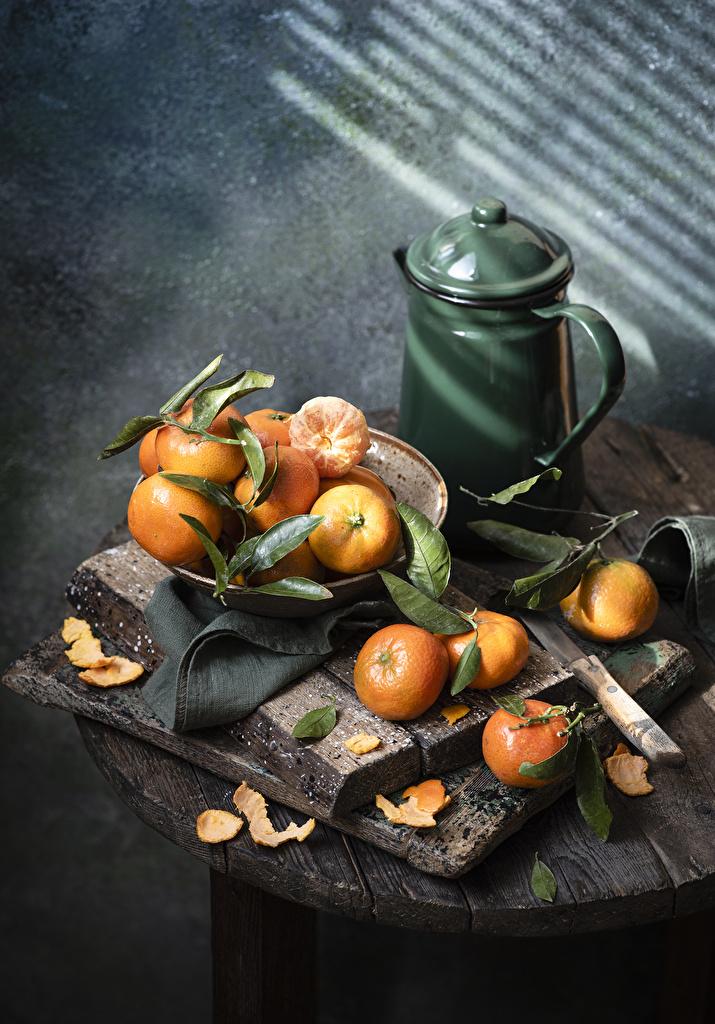 Bilder von Mandarine Kanne das Essen  für Handy krüge kannen Lebensmittel