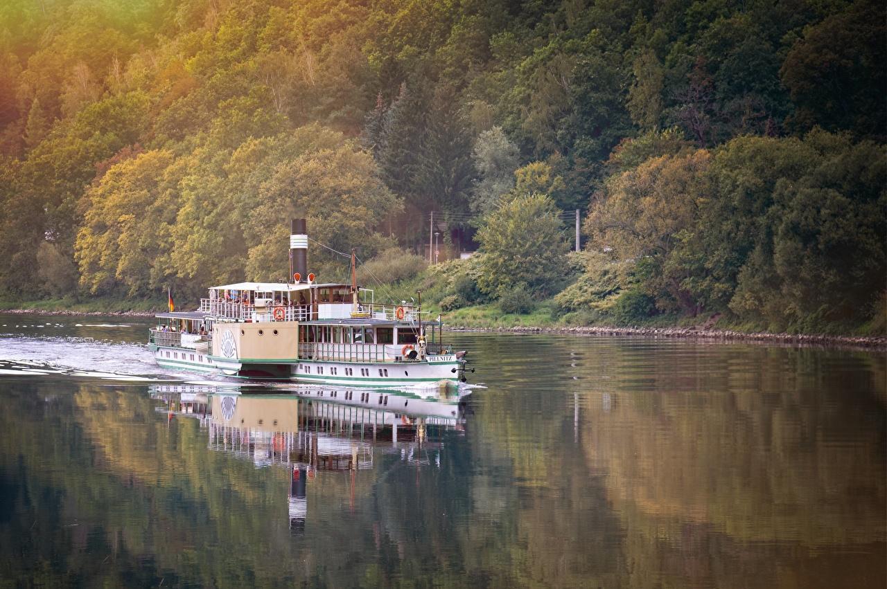 ,复古,河流,河川舟運,Steamboat,,大自然,