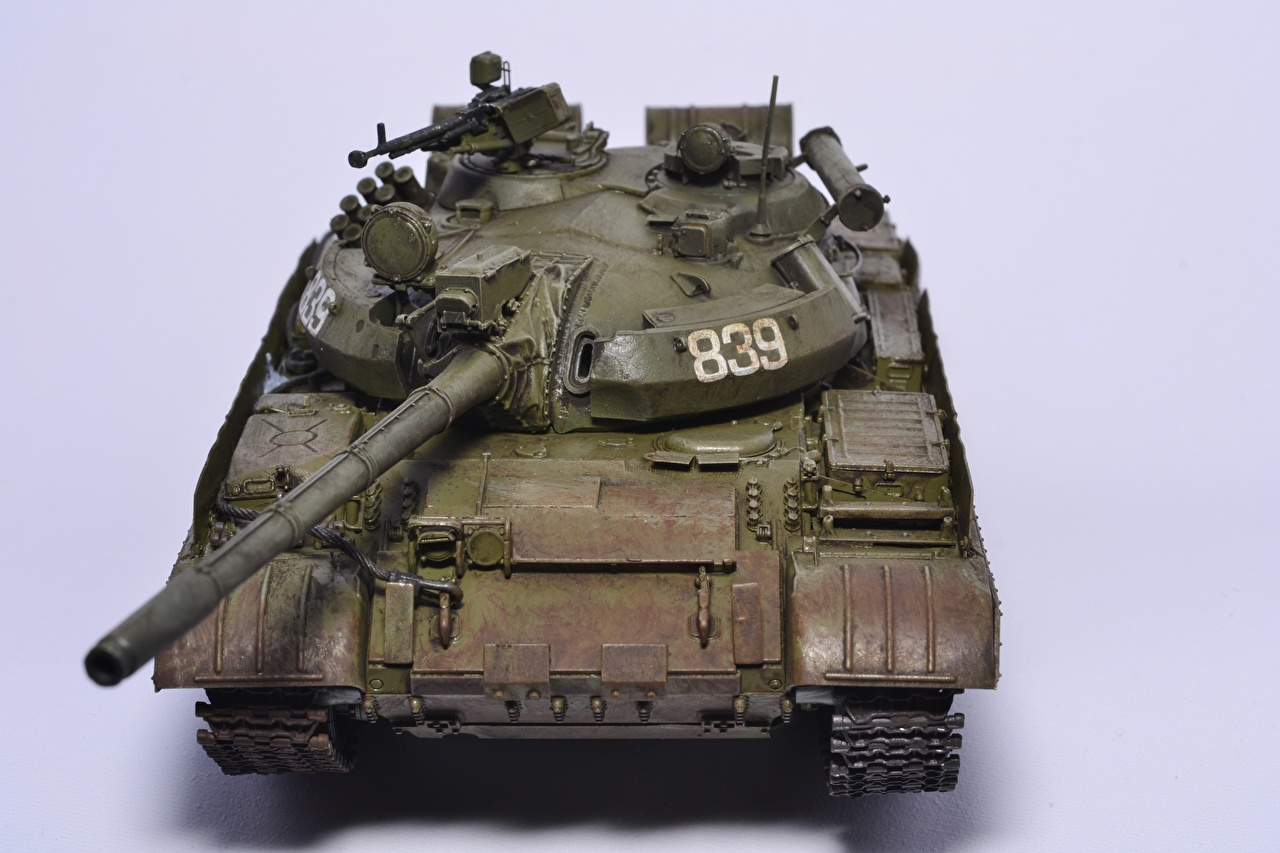 Desktop Wallpapers Tanks Russian T-55 toy Army tank Toys military